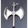 257 Sterling Silver Minoan Double Headed Axe Pendant (XXL)