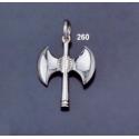 260 Sterling Silver Minoan Double Headed Axe Pendant (M)