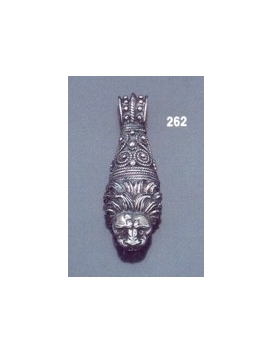 262 Sterling Silver Lion torc pendant