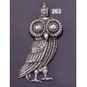 263 Large Athens Wise Owl Pendant