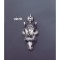 264/K Capricorn's Head Torc Pendant