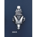 264/A Silver Ram's Head Torc Pendant (XXL)
