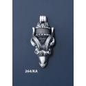 264/KA Silver Capricorn's Head Torc Pendant (XXL)