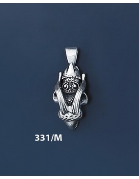 331/M Silver Capricorn's Head Torc Pendant (S)