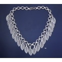 700 Grecian Solid Sterling Silver Leaf Necklace