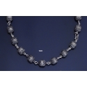 1020 Byzantine Intricate Silver Large Bead Necklace
