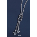 1064/B Hand Braided Silver Necklace with Ram