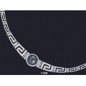 1180 Greek Key/Meander Necklace with Goddess Athena Coin (S)