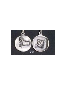 70 Thessaly, horse & grain coin