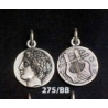 275/BB Chalkidian League god Apollo and Lyre/kithara