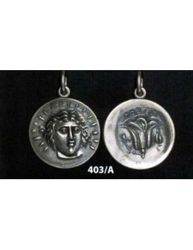 403/A Rhodes - Helios sun god and rose