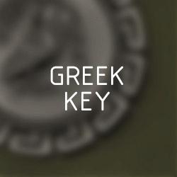 Greek-key (Meander) coin pendants