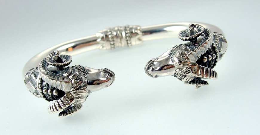 Ram Bracelet, animal torc bracelet 237 XL