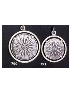 790 Sun/Star of Macedonia mounted on bezel (large)