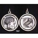 767 Athens tetradrachm, Athena & Owl of wisdom