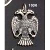 1030 Thick silver masonic double-headed eagle of Lagash pendant