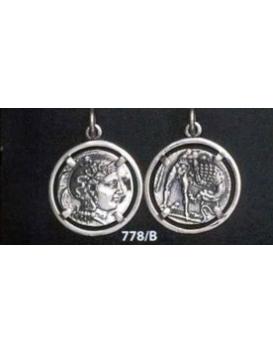 778/B Athena & Herakles/Hercules silver Diobol