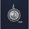 1235 Alexander The Great (Hercules) Coin Pendant with Greek Key Pattern / Meander (S)