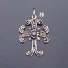 26 Ornate Silver Byzantine Cross
