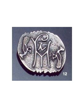 12 Byzantine monogram brooch