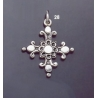 28 Double-Sided Solid Silver Ornate Byzantine Cross