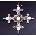 31 Solid Silver Ornate Byzantine Cross (XL)