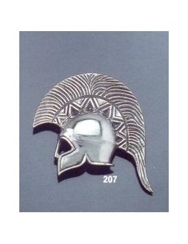 207 Large silver Spartan Helmet brooch