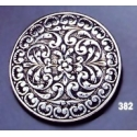 382 Ornate sterling brooch round