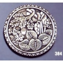 384 Ornate sterling brooch round
