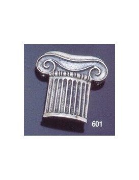 601 Ionic column brooch in sterling silver