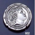 602 Alexander The Great Portrait Shield Brooch