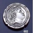 602 Alexander The Great Portrait Shield Brooch