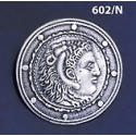 602/N Alexander the Great Coin Macedonia Silver Sterling Broooch