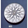 603 Large Vergina Sun - Starburst brooch