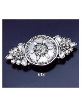 618 Byzantine Granular Floral Brooch