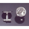 46 Silver Owl of Wisdom cufflinks