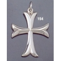 154 Sterling Byzantine/Knights Templar Cross pattée pendant