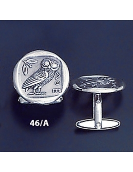 46/A Silver Owl of Wisdom cufflinks