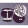 103X Silver Apollo cufflinks