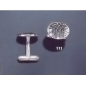 111 Solid Silver Cufflinks with Byzantine Monogram