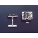 113 Solid Silver Cufflinks with Byzantine Monogram