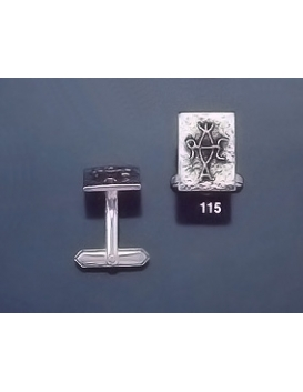 115 Solid Silver Cufflinks with Byzantine Monogram