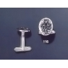 116 Solid Silver Cufflinks with Byzantine Monogram