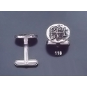 118 Solid Silver Cufflinks with Byzantine Monogram