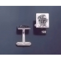 122 Solid Silver Cufflinks with Byzantine Monogram