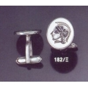 182X Helmetted Athena Intaglio seal cufflinks