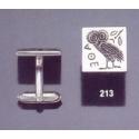 213 Owl intaglio cufflinks