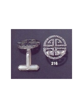216 Greco-Roman meander Greek Key cufflinks (rounded)