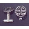 216 Greco-Roman meander Greek Key cufflinks (rounded)