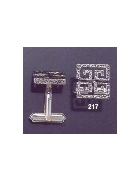 217 Greco-Roman meander Greek Key cufflinks (squared)